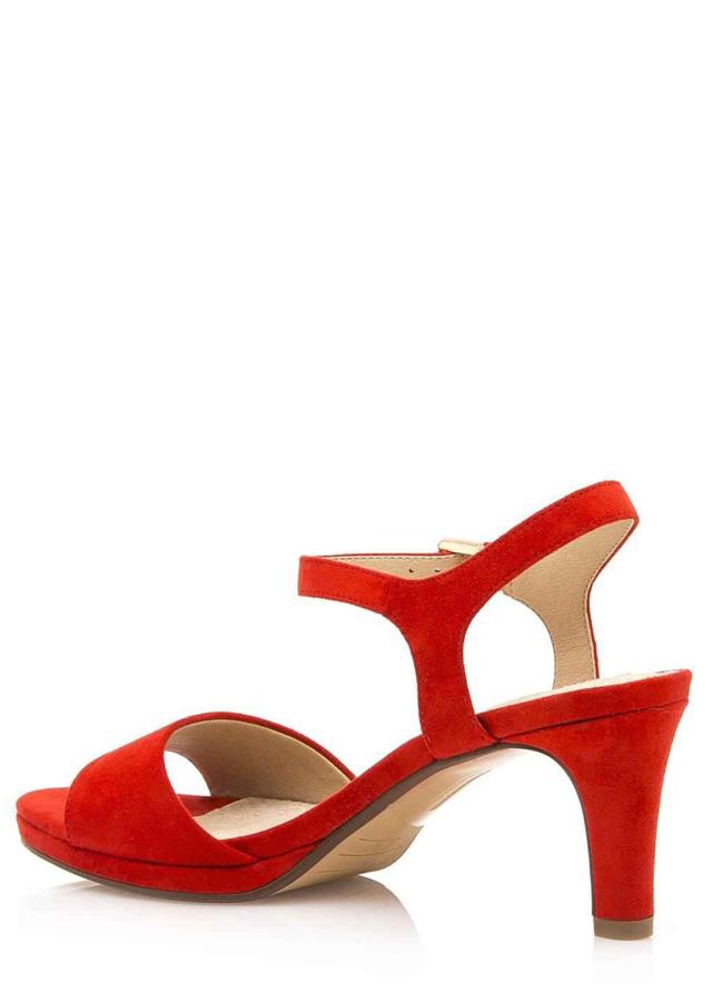 Červené sandály na nižším podpatku Maria Mare(593411) - 4 56869538ffd