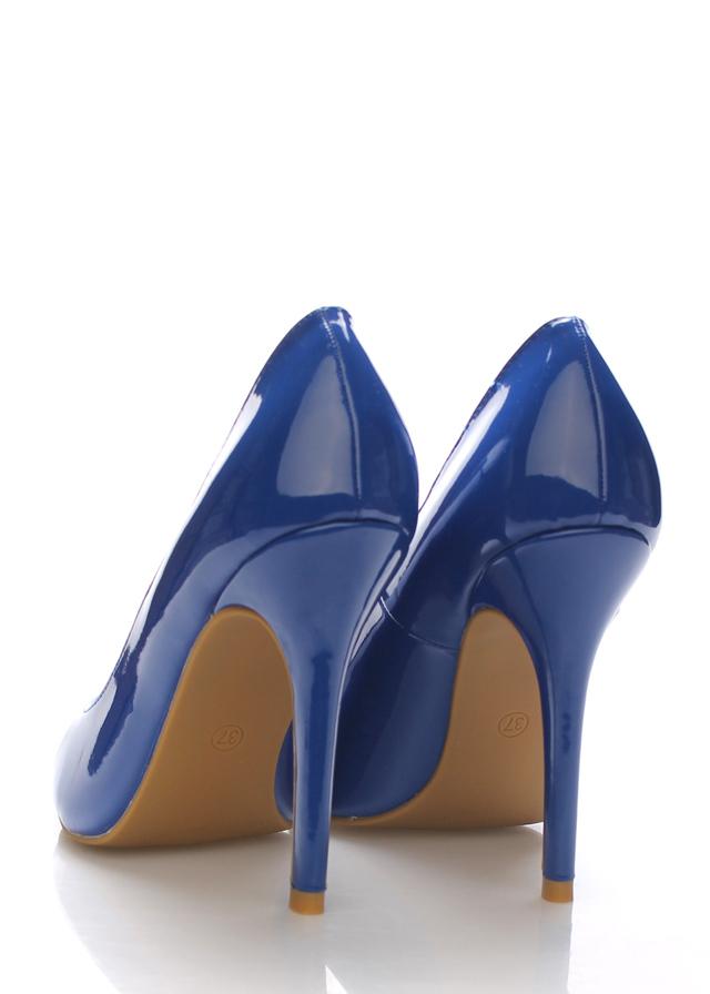55c2fb606c2 Modré lesklé lodičky Monshoe(101333) - 3