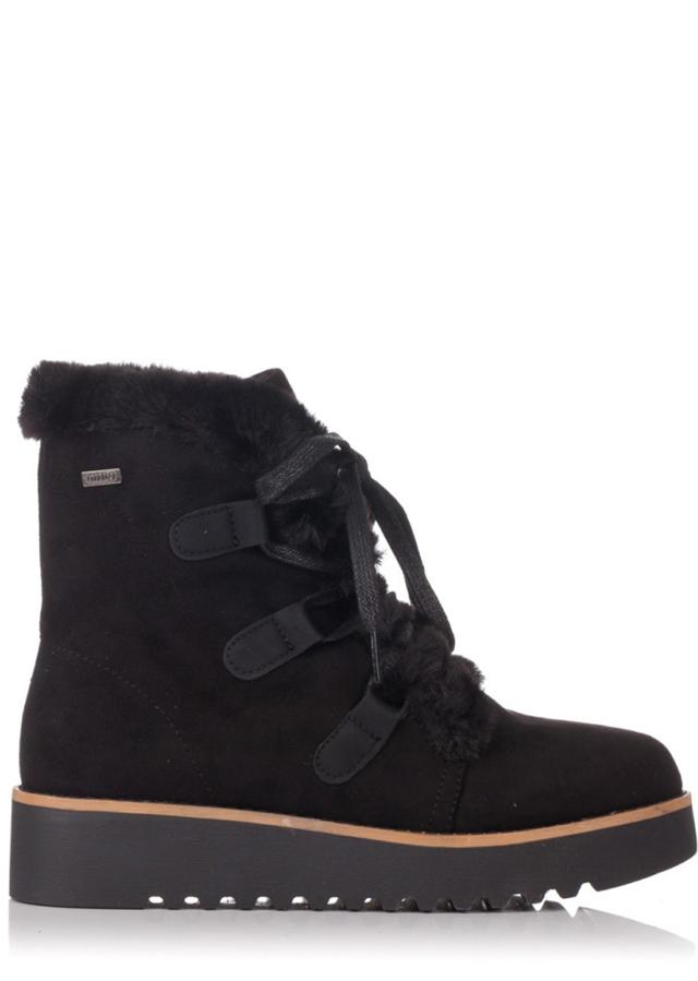 Černé zimní boty na nízkém klínku MTNG - 40 1465b8172e