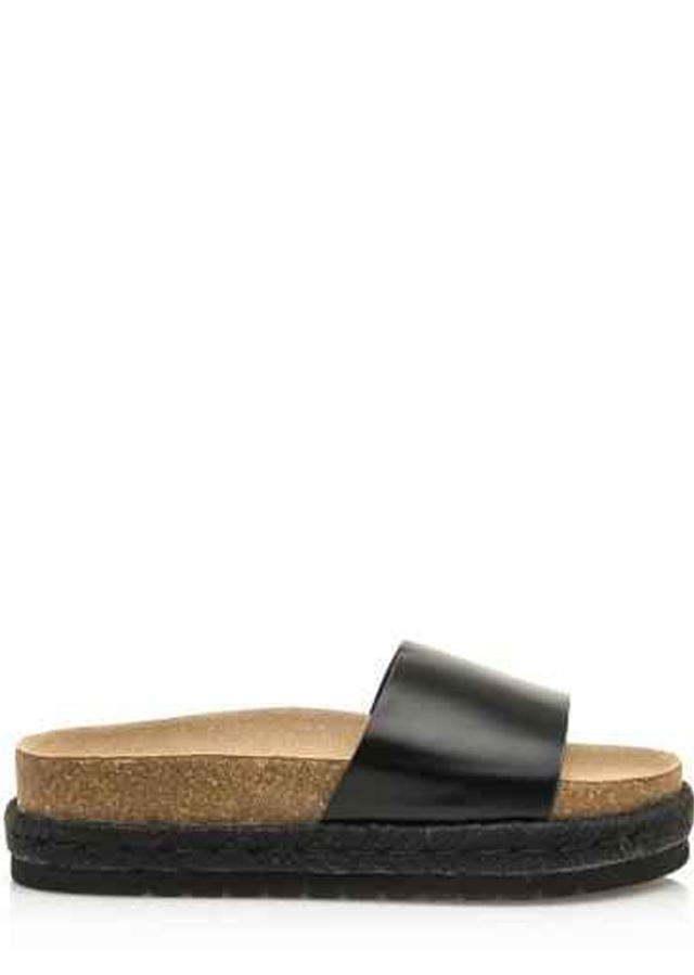 Černé pantofle s espadrilovou podrážkou MTNG