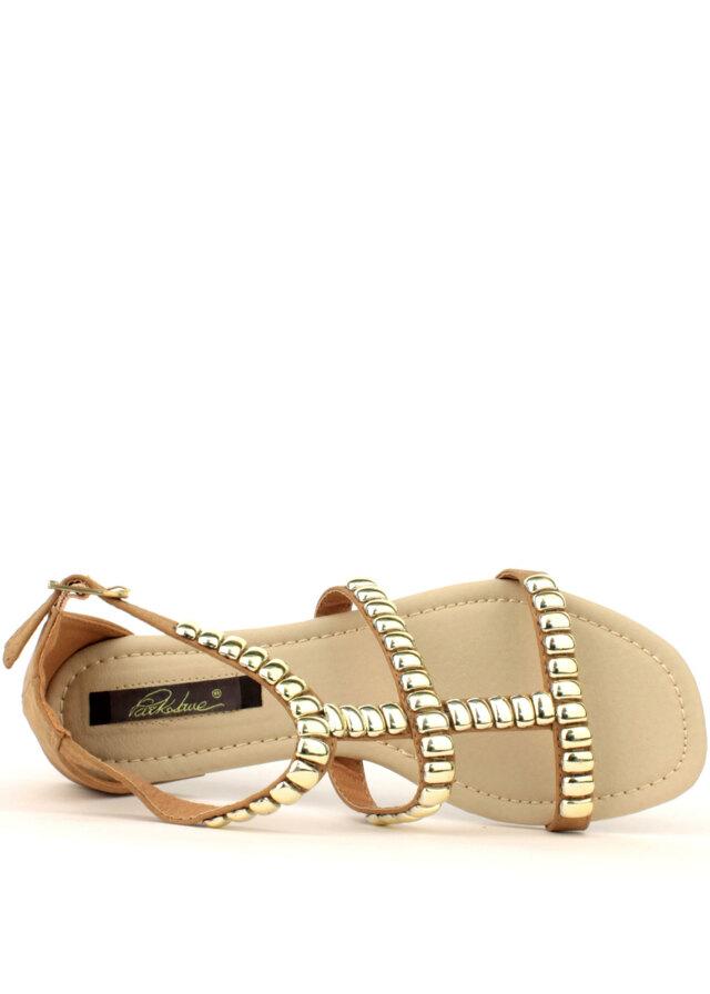 535514a739 Béžové kožené sandály Park Lane se zlatými cvoky(4182) - 2