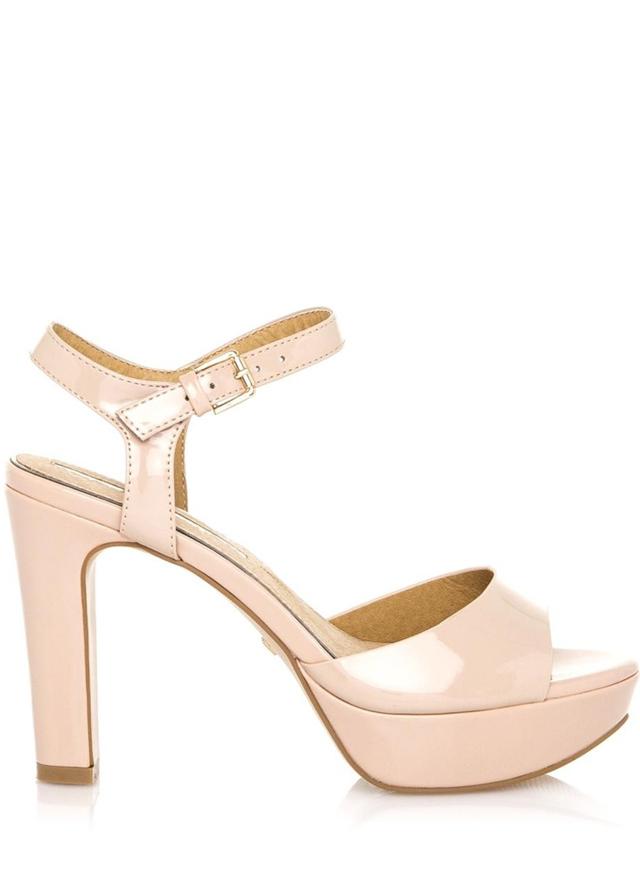 Pudrové lesklé sandály Maria Mare