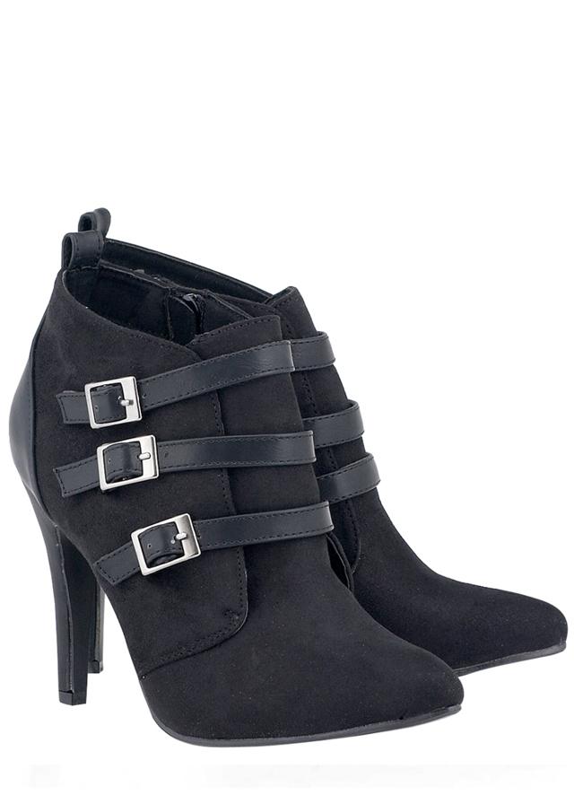 7cb5dcf4b06 Černé boty na podpatku s pásky Alex Silva(4335) - 3