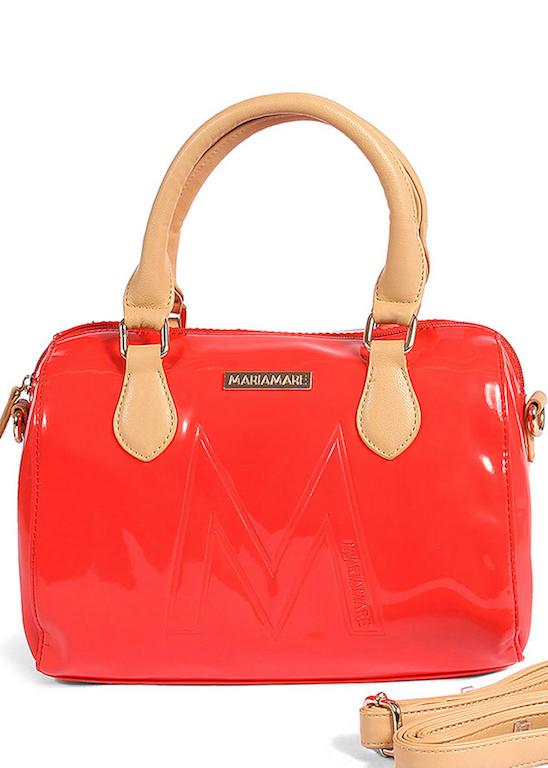 Červená lakovaná kabelka MARIA MARE