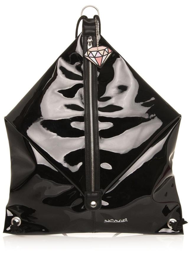 Černý pytlový batoh Sixtyseven