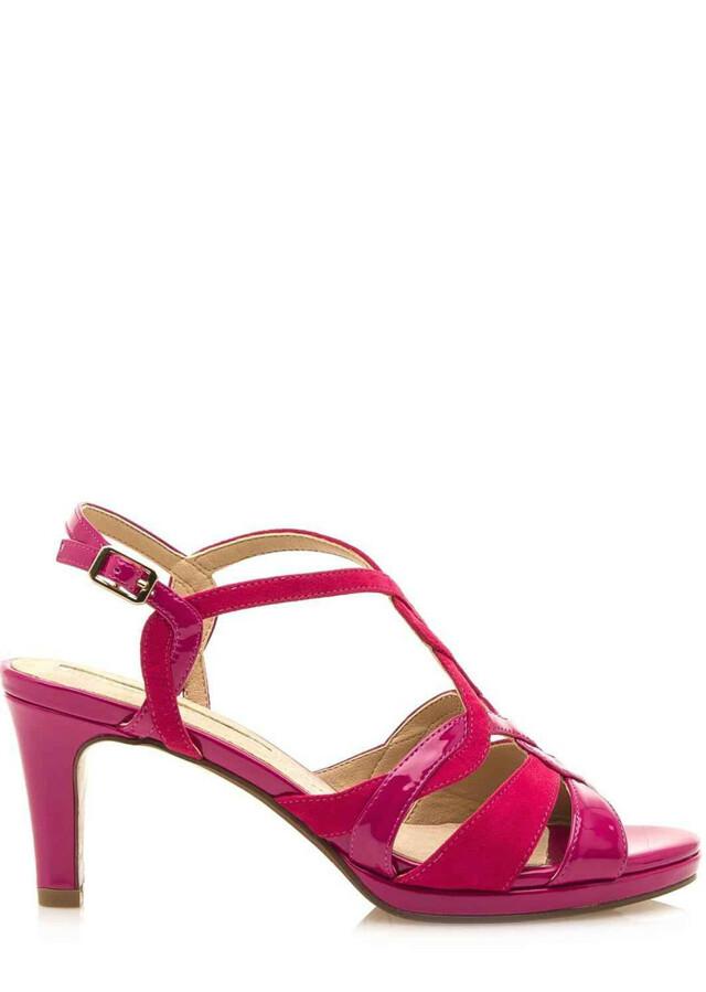 Fuchsiové sandály na podpatku Maria Mare