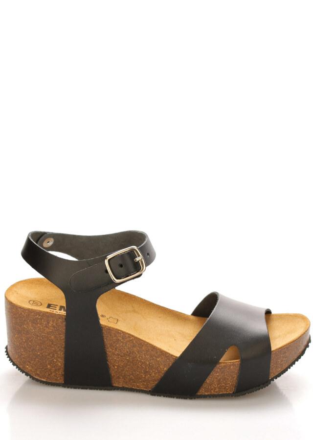 a3db26e4b6 Kožené korkové sandály na platformě EMMA Shoes - 36