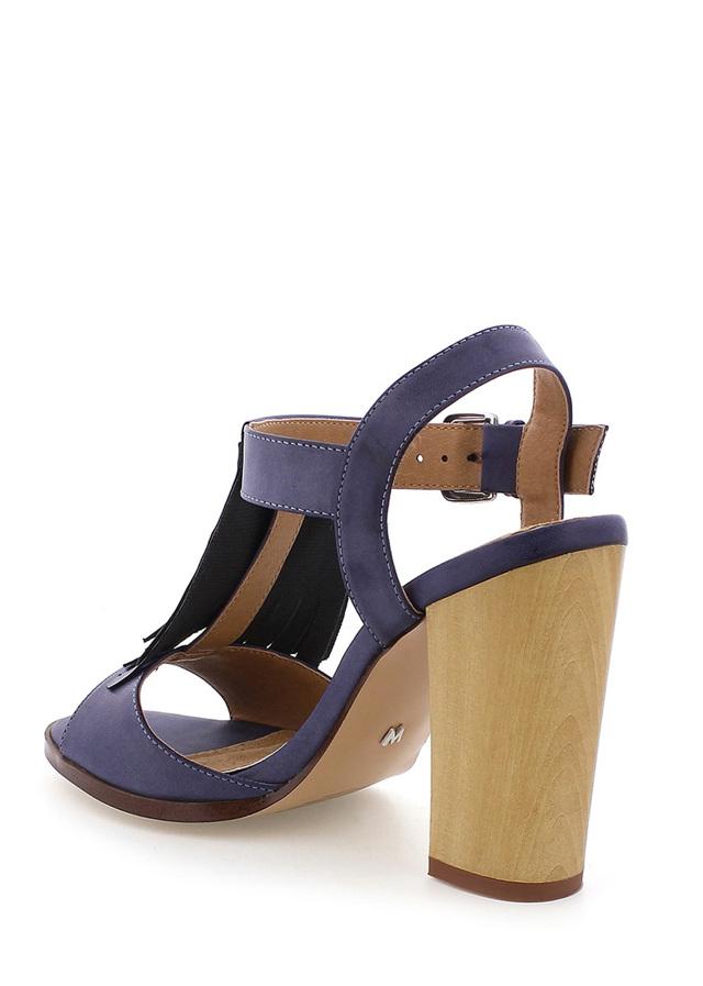 dab628391e Modré sandály s trásněmi na podpatku MARIA MARE(101648) - 3