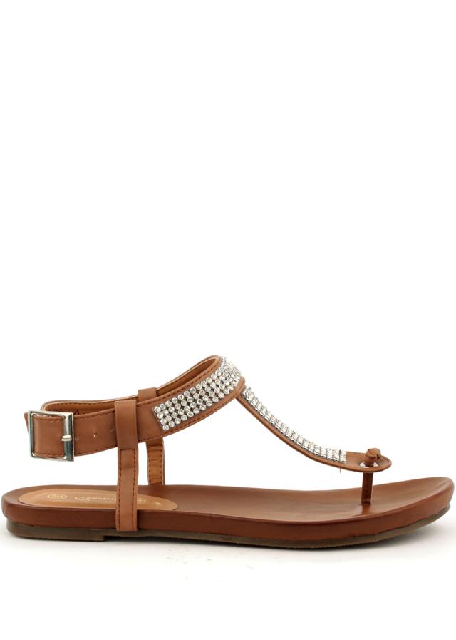 Letní sandály Claudia Ghizzani v hnědé