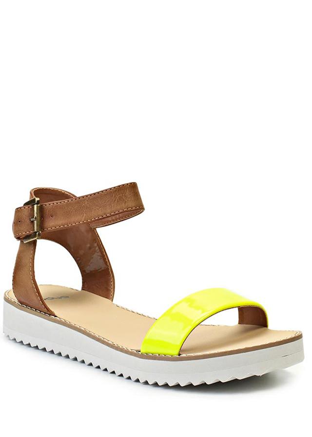 8a827bd985d6 ... Páskové žluté sandály na platformě Timeless Quing (4136) - 5 ...