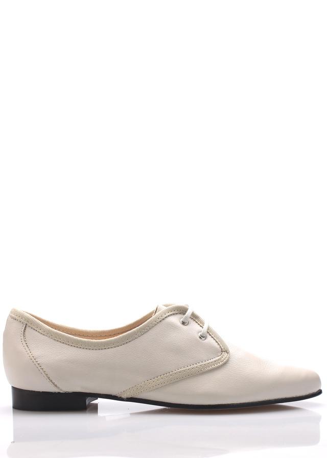 Bílé kožené boty se špičkou Maria Jaén - 39