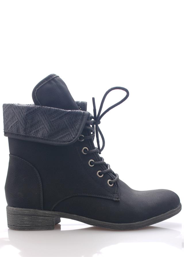 Černé šněrovací boty Monshoe