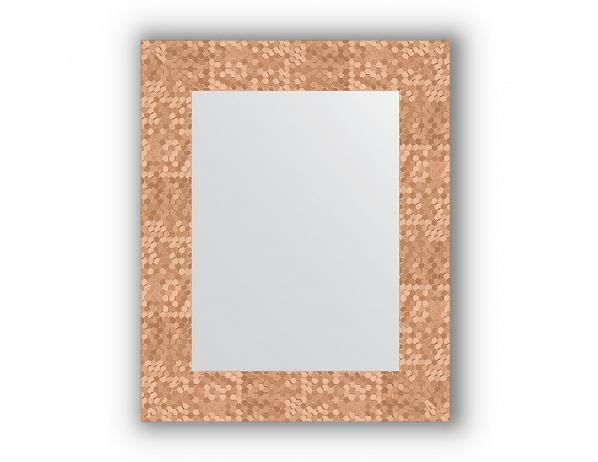 Zrcadlo v rámu, plástev měď, 43x53 cm