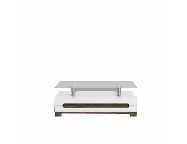 Luxusní konferenční stolek LORIEN LS 90, San Remo, bílý vysoký lesk