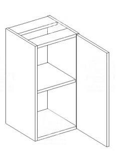 KORAL, skříňka dolní D30, bílá/zebrano_DOPRODEJ