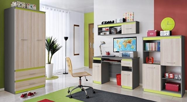 Smartshop Dětský pokoj PAAULINA, jasan coimbra/limeta