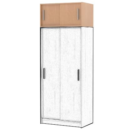 Nástavec s posuvnými dveřmi SMART 11, buk