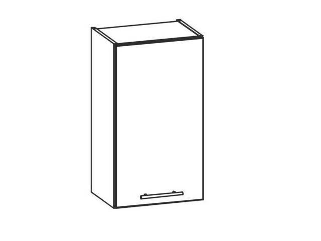 TIFFANY, horní skříňka G40, bílý lesk