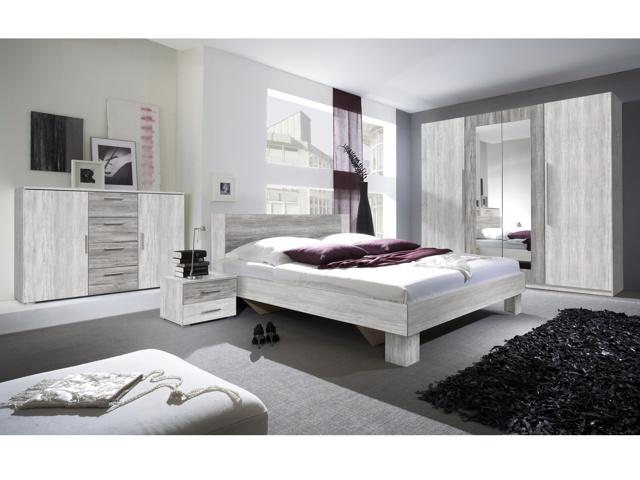 Smartshop VIERA ložnice s postelí 160x200, borovice canyon světlá/borovice canyon tmavá
