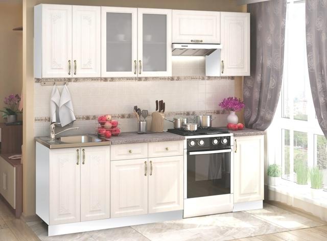 Smartshop Kuchyně VIKTORIE 180/240 cm, bílý santál
