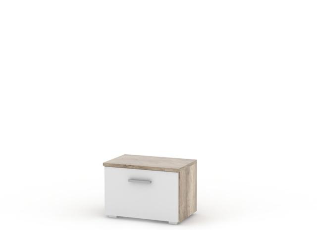 MAXIMO, skříňka malá MX01, canyon oak/bílý lesk