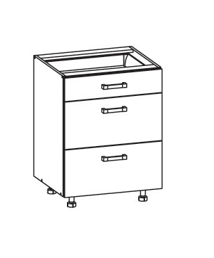 PESEN 2 dolní skříňka D3S 60 SMARTBOX, korpus congo, dvířka dub sonoma hnědý