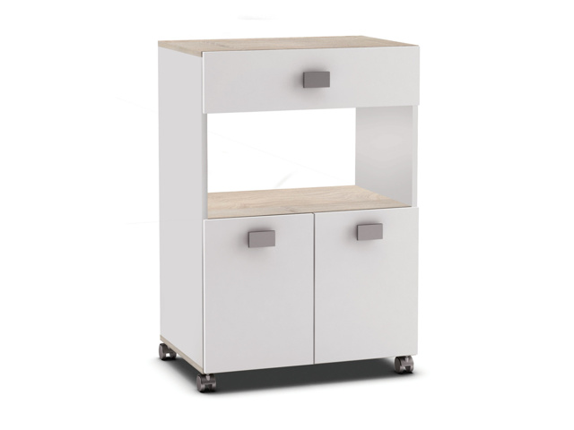 RAMARIN, kuchyňská skříňka, bílá/akát