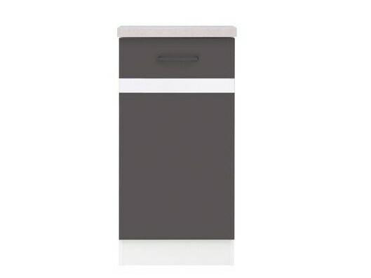Black Red White JUNONA, skříňka dolní 40 cm, pravá, wolfram šedý