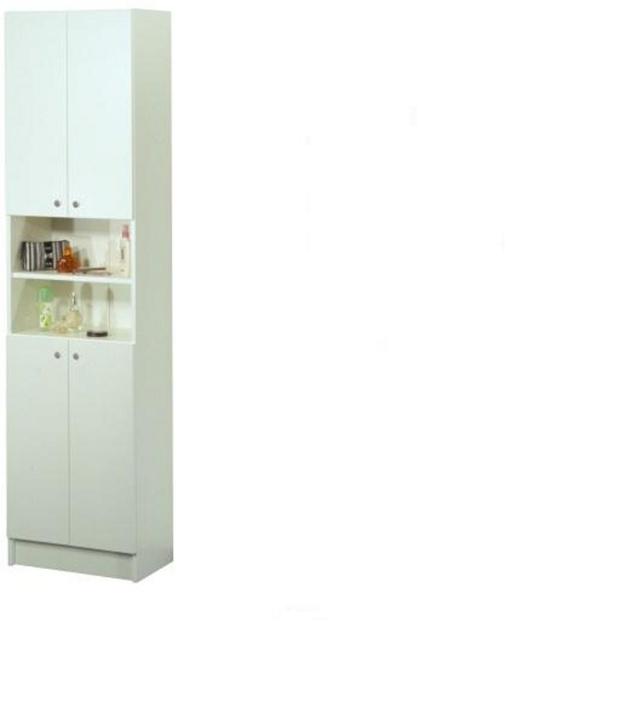 MB Domus LUNA, skříňka vysoká LU04, bílá