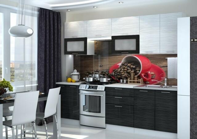 Smartshop Kuchyně VIALERIA 200/260, black stripe