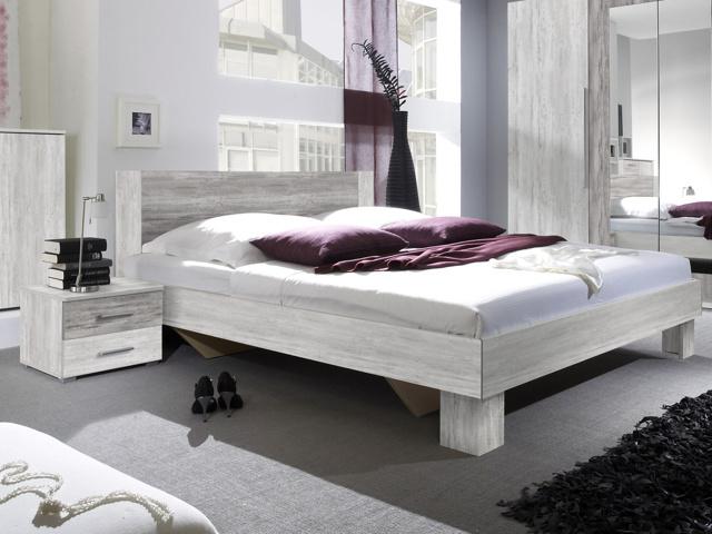 VERA postel 160x200 cm s nočními stolky, borovice canyon světlá/borovice canyon tmavá