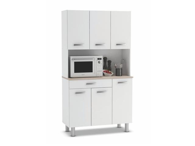DEMEYERE PESTA, kuchyňská skříňka, bílá/akát