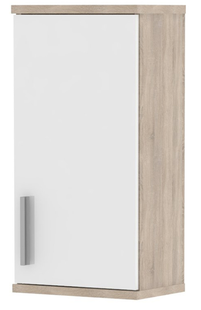 MB Domus LINNDA, skříňka horní LI04, dub sonoma/bílý lesk