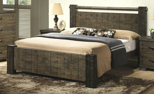 DiTAVOLA, postel 180x200 cm s roštem, masiv