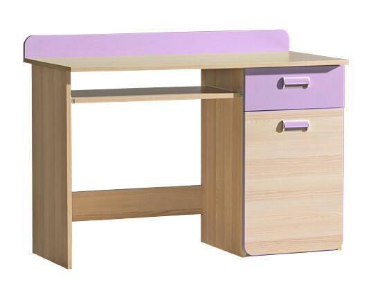 LORENTTO, stůl L10, jasan/fialová