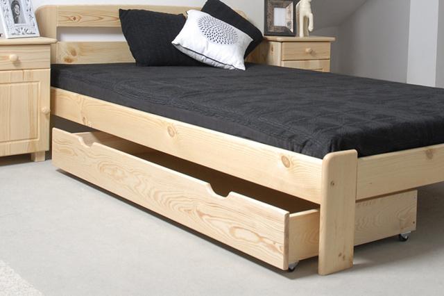Úložný prostor pod postel 150 cm, masiv borovice