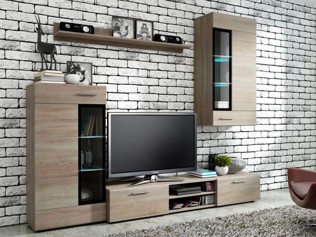 Smartshop  Obývací stěna TIANGO, dub sonoma