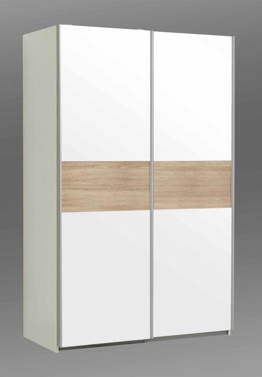 OHIO, šatní skříň OHS823E1, bílá/dub sonoma