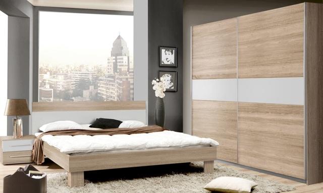 GOULDSTAR ložnice II, dub sonoma/bílá