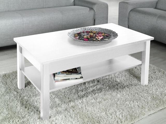 Konferenční stolek LAWA, bílý mat
