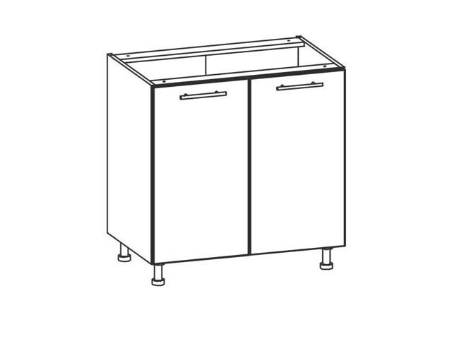 TIFFANY, dolní skříňka D80, bílý lesk