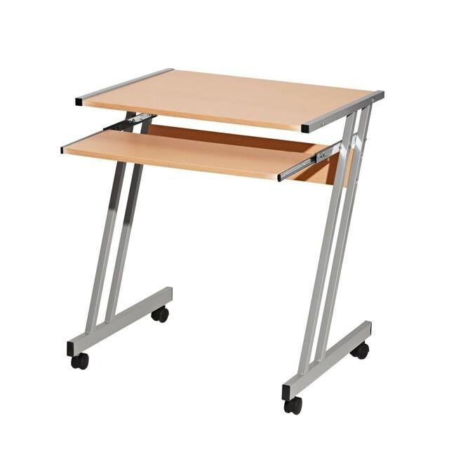 Smarshop PC stůl na kolečkách 106, buk