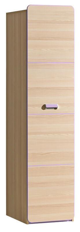 LORENTTO, policová skříň L2, jasan/fialová