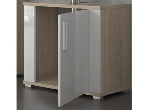 LINDA, skříňka pod umyvadlo LI02, dub sonoma/bílý l.