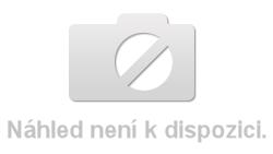 Manželská postel 180x200 cm v bílém lesku s čalouněným čelem s roštem KN934