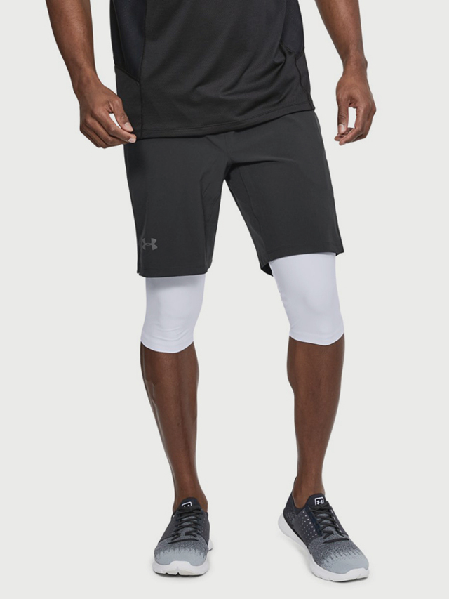 Kraťasy Under Armour Speedpocket Long 2-N-1 Short Černá