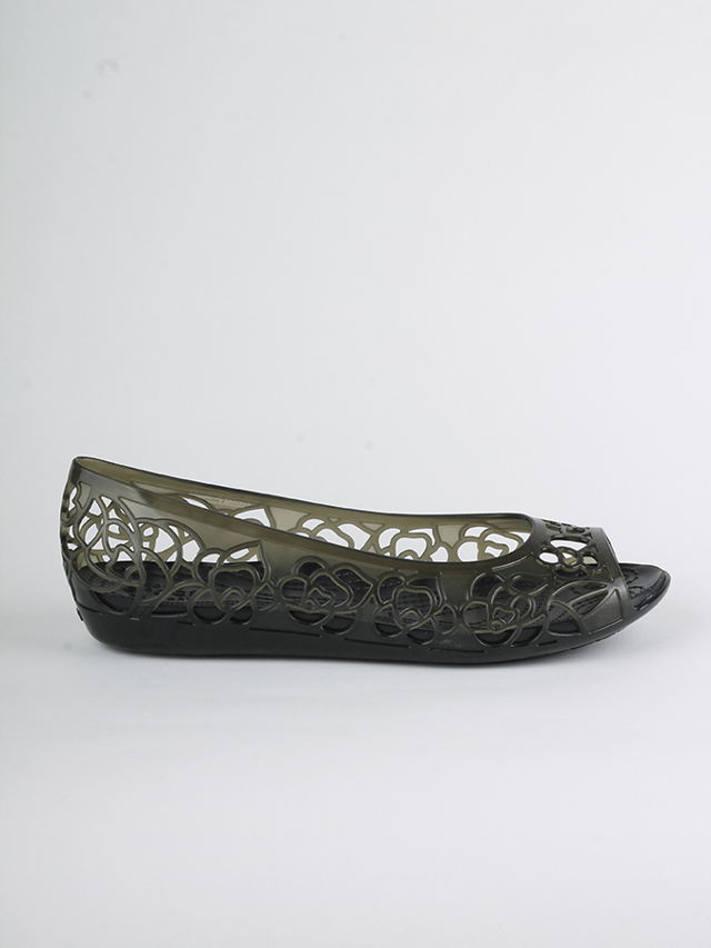Sandály Crocs Isabella Jelly Flat W Černá