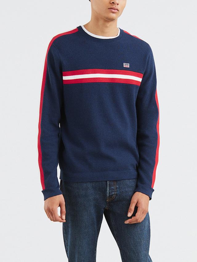 Mikina LEVI'S Crewneck Sport Sweater Sport Dress Blue Modrá