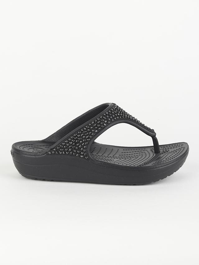 Žabky Crocs Women\'s Sloane Embellished Flip Černá