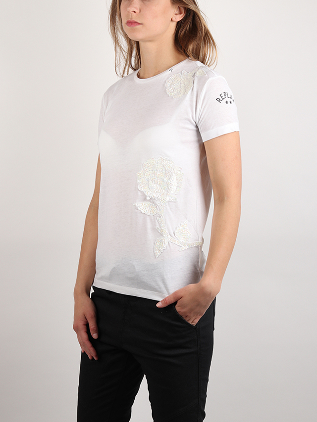 Tričko Replay W3959 T-Shirt Bílá